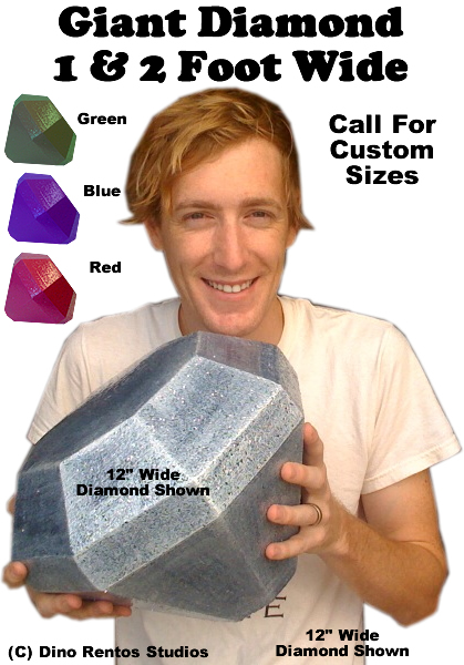 Giant Diamond & Gem 3D Foam Prop