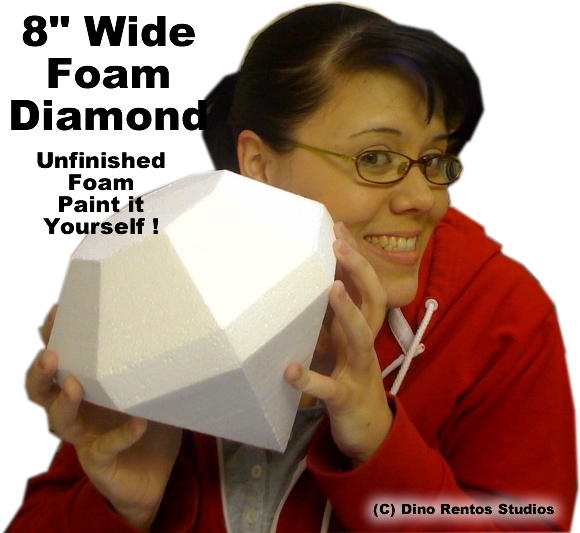 "Foam Diamond Prop 8"" Wide - Unfinished Foam"