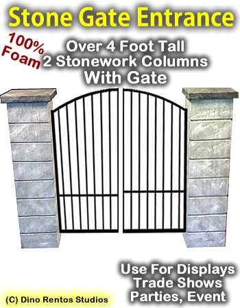 4 Foot Stone Column Entrance Gateway