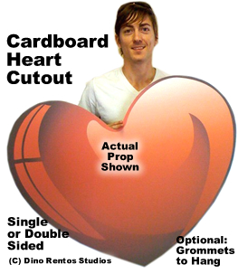 Giant Heart Cardboard Cutout Prop