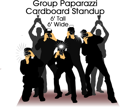 Paparazzi Group Cardboard Cutout Standup Prop
