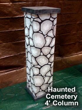 Haunted Cemetery Column Cardboard Prop
