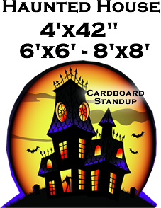 Haunted House Cardboard Cutout Standup Prop