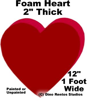 """Foam Heart Prop - 12"""" Wide"""