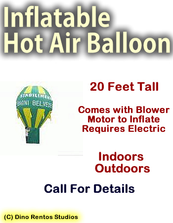 Inflatable Prop Giant Hot Air Balloon - 20 Foot Tall