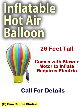 Inflatable Prop Giant Hot Air Balloon - 26 Foot Tall