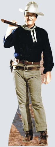 John Wayne With Rifle on Shoulder Cardboard Cutout/Standup
