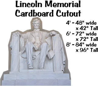 Lincoln Memorial Cardboard Cutout Standup Prop