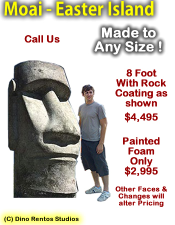 Giant Moai - Easter Island Rock Head Sculpture Prop