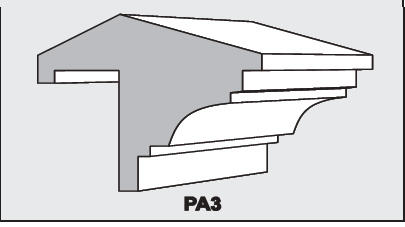 PA3 - Architectural Foam Shape - Parapets & Caps