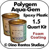 Polygem Aquagem Epoxy Plastic Foam Coating - 1.5 Quart Kit