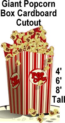 Popcorn Box Cardboard Cutout Standup Prop