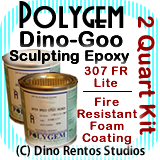 Polygem Dino-Goo 307FR Epoxy Clay Foam Coating - 2 Quart