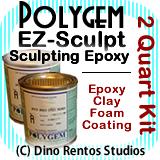Polygem EZ Sculpt Epoxy Clay Foam Coating - 2 Quart