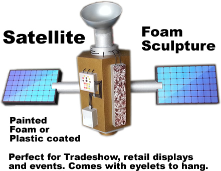 Satellite Foam Sculpture - Decor - Decoration