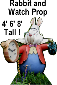 White Rabbit Cardboard Cutout Standup Prop
