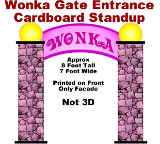 Wonka Entrance Cardboard Cutout Standup Prop