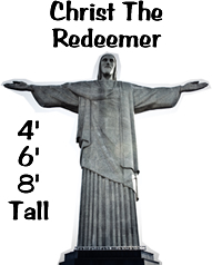 Christ The Redeemer Cardboard Cutout Standup Prop