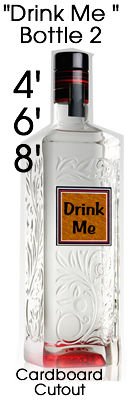 Drink Me Bottle 2 Cardboard Cutout Standup Prop