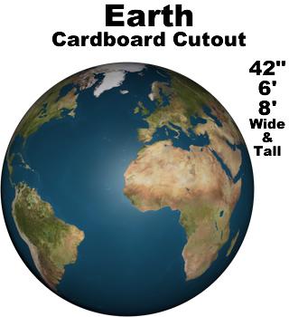 Earth Cardboard Cutout Prop