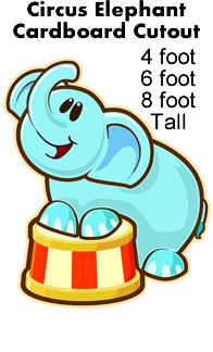 Circus Elephant Cardboard Cutout Standup Prop