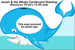 Jonah & the Whale Cardboard Cutout Standup Prop