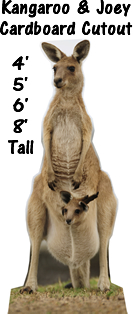 Kangaroo Joey Cardboard Cutout Standup Prop
