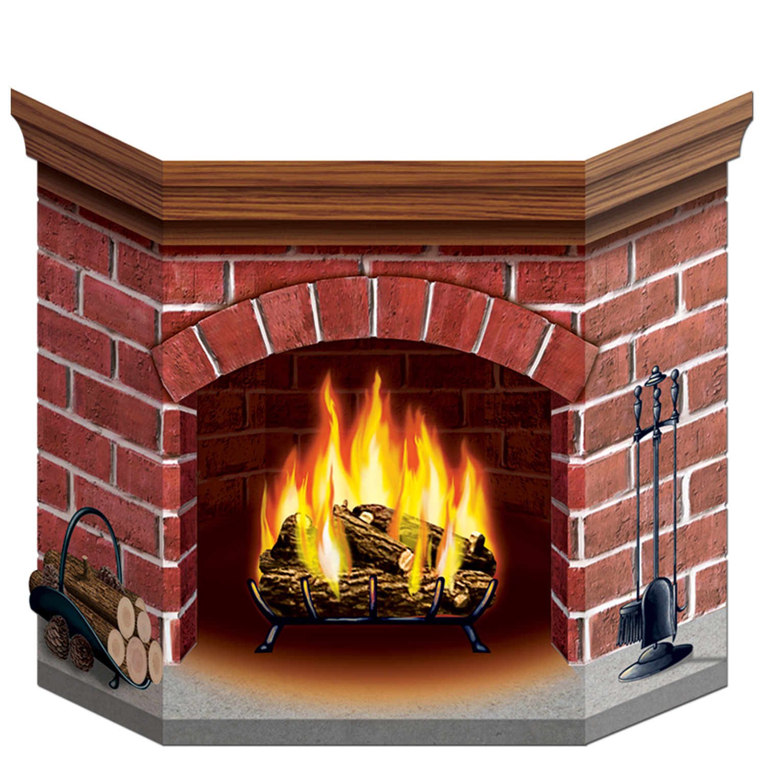 "Brick Fireplace Standup 3' 1"" x 25"""