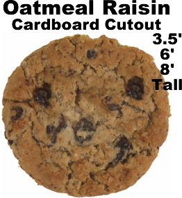 Oatmeal Raisin Cookie Cardboard Cutout Standup Prop