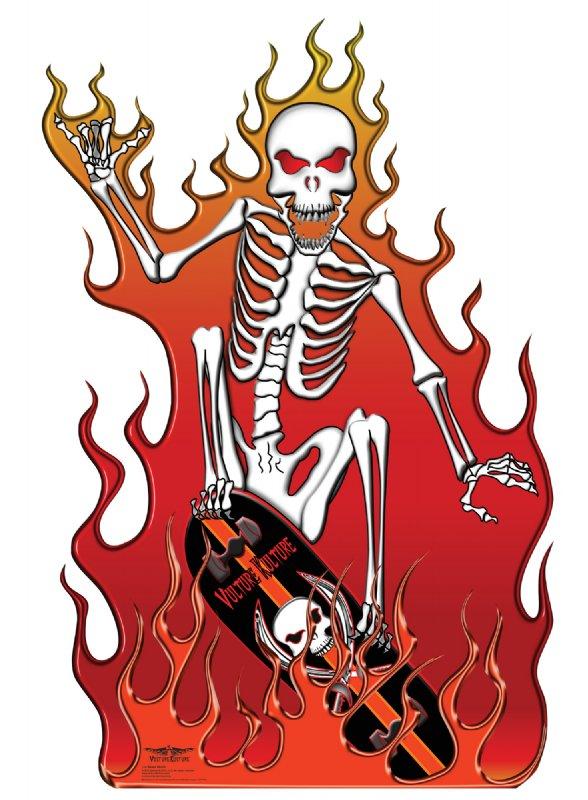 Vulture Kulture Skate Death - Halloween Cardboard Cutout Standup Prop