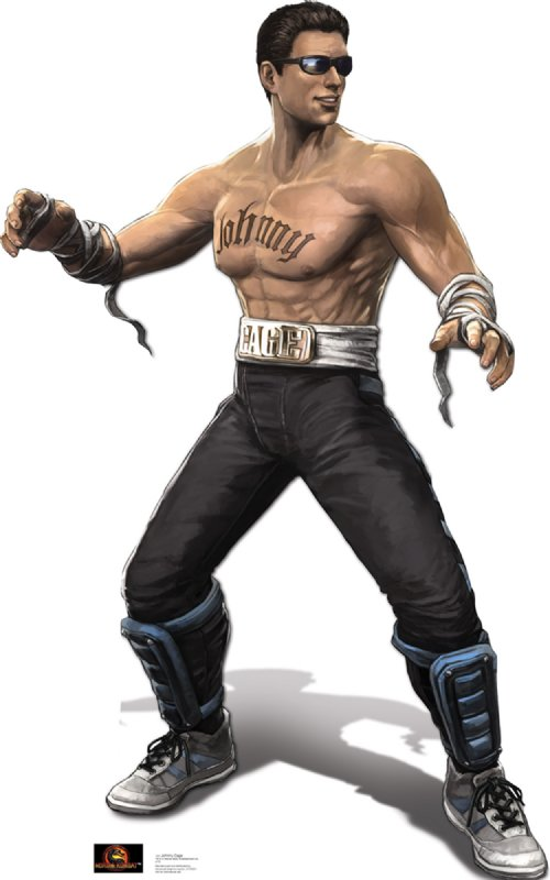 Johnny Cage - Mortal Kombat Cardboard Cutout Standup Prop