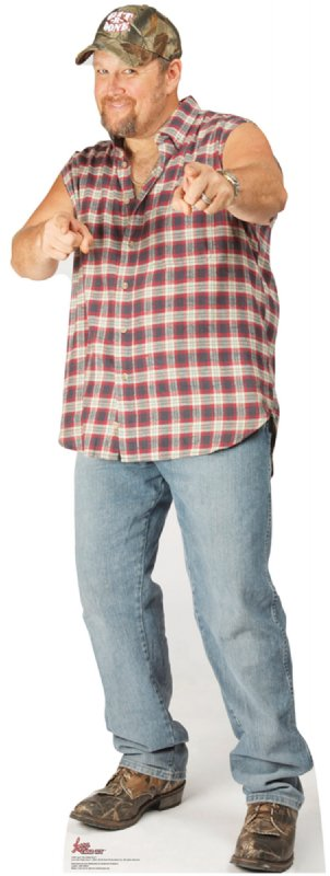 Larry the Cable Guy Pointing Cardboard Cutout Standup Prop