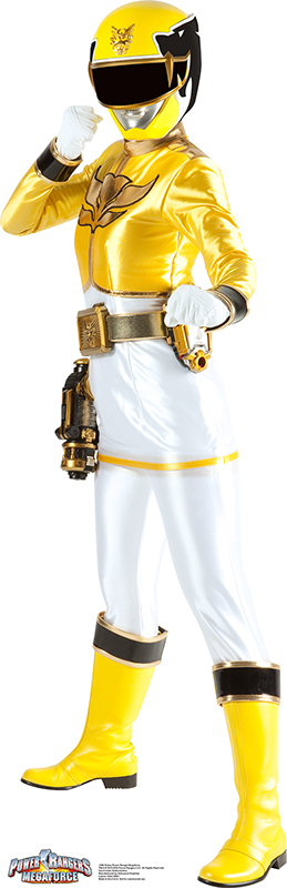 Yellow Ranger - Power Rangers: Megaforce Cardboard Cutout Standup Prop