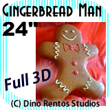 Giant Gingerbread Man Foam Prop - 24 Inches