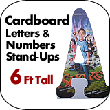 6 Foot Tall Cardboard Letters-Numbers Standup