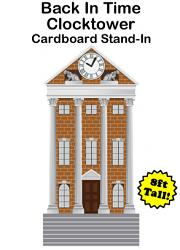 Back In Time Clocktower Cardboard Cutout Standup Prop