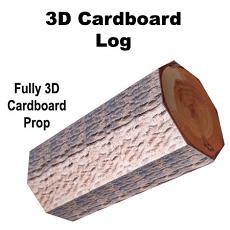 3D Cardboard Log