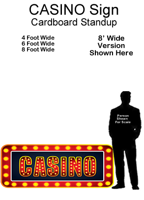 Casino Sign Cardboard Cutout Standup Prop