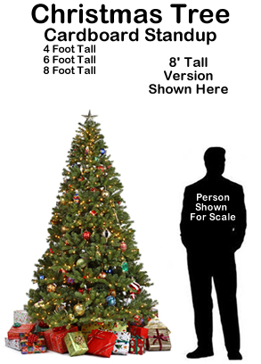 Christmas Tree with Presents Cardboard Cutout Standup