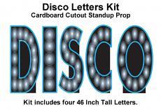 DISCO Letters Cardboard Cutout Standup Kit