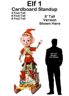 Christmas Elf 1 Cardboard Cutout Standup Prop