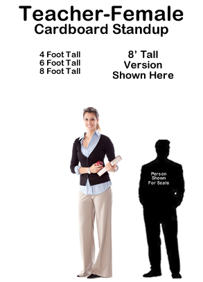 Teacher Female Cardboard Cutout Standup Prop