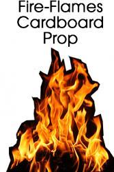 Fire Flames Cardboard Cutout Standup Prop