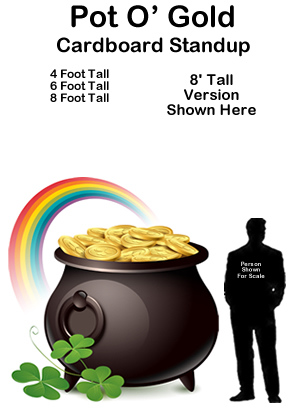 Pot of Gold Cardboard Cutout Standup Prop