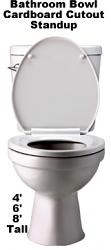 Bathroom Toilet Bowl Cardboard Cutout Standup Prop