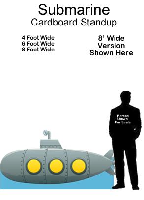 Submarine Cardboard Cutout Standup Prop