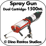 1500ml Dual Cartridge Poly Spray Gun