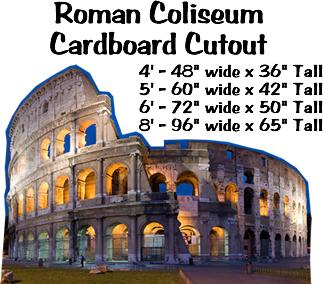Roman Coliseum Cardboard Cutout Standup Prop