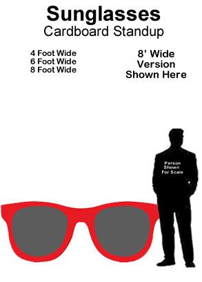 Sunglasses Cardboard Cutout Standup Prop