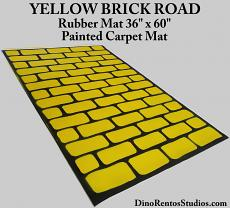 "Yellow Brick Road Rubber Mat 36"" x 60"" - Straight"